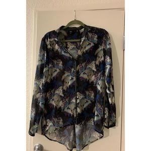Mossimo Black Floral Blouse